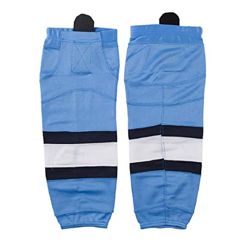 COLDINDOOR Men Hockey Socks, Big Boy Women Premuim Dry Fit Knit Ice Hockey Team Socks Adult Sky Blue M