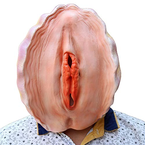 Novelty Funny Halloween Cosplay Costume Masquerade Party Latex Animal Conch Shell Head Mask]()