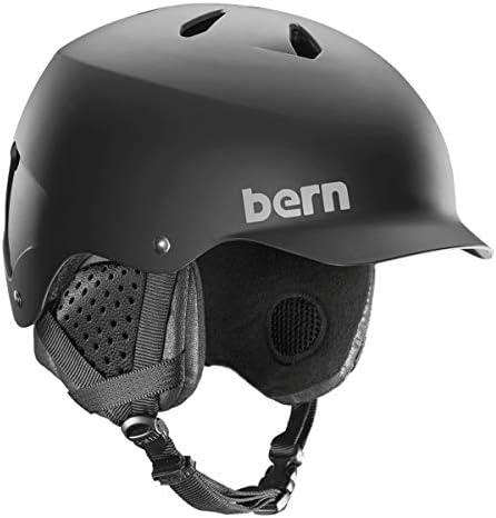 BERN – Winter Watts EPS Snow Helmet, Matte Black with Black Liner, Medium