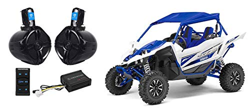 Memphis Audio Bluetooth Controller+Tower Speakers+2-Ch Amplifier For Yamaha YXZ