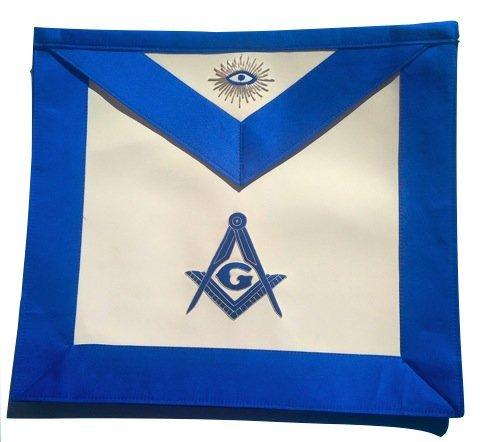 Equinox MR Delux Master Mason Royal Blue Satin Blue Lodge Apron MA-101-S
