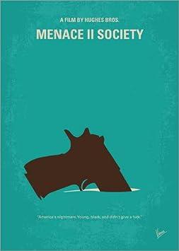 Lienzo 90 x 130 cm: No484 My Menace II Society Minimal Movie Poster de chungkong - Cuadro Terminado, Cuadro sobre Bastidor, lámina terminada sobre Lienzo auténtico, impresión en Lienzo