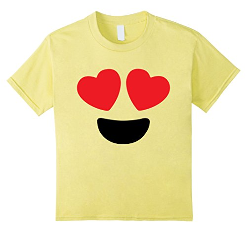 Kids Cute Heart Eyes Emoji Face Halloween Costume T-Shirt 10 (Heart Eye Emoji Halloween Costume)