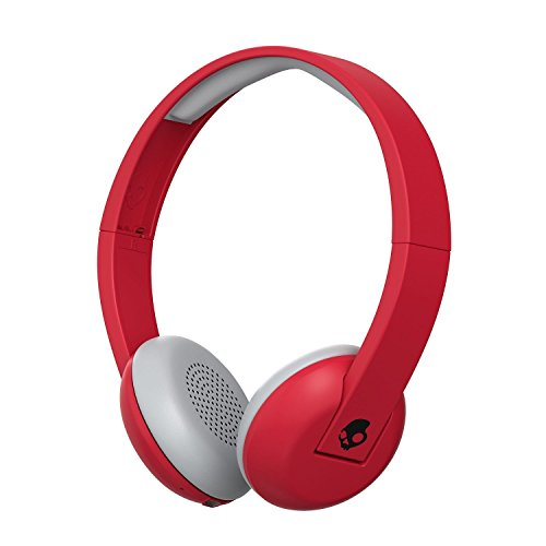 Skullcandy Uproar Bluetooth Wireless On-Ear Headphones with Built-In Microphone Red (Certified Refurbished)
