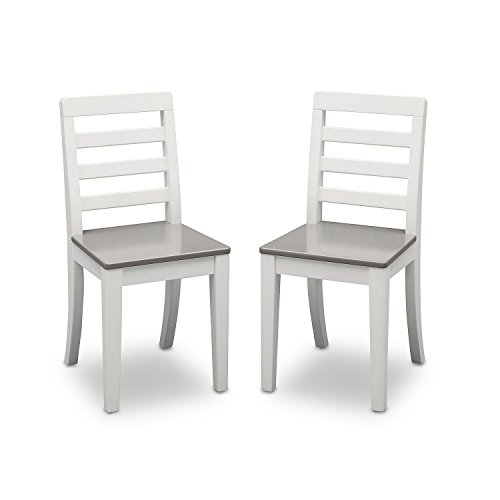 Delta Children Table and Chairs, 3-Piece Set (White and Grey) by Delta Children (Image #3)'