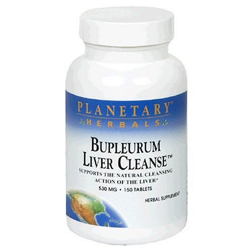 Planetary Herbals Bupleurum Liver Cleanse 545mg - With Calcium, Cypress Rhizome, Ginger & More - 150 Tablets