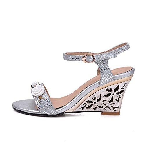 Adee , Damen Sandalen, Silber - silber - Größe: 34