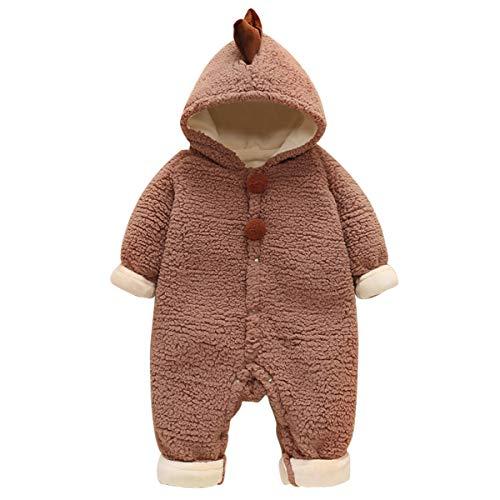 NCONCO Schattige Pasgeboren Baby Dinosaurus Bodysuit Winter Warm Hooded Jumpsuit Romper Outwear Kleding Outfit voor 3…