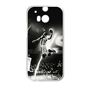 HTC One M8 Cell Phone Case White hc84 dwyane wade dunk nba flash sports LSO7760892