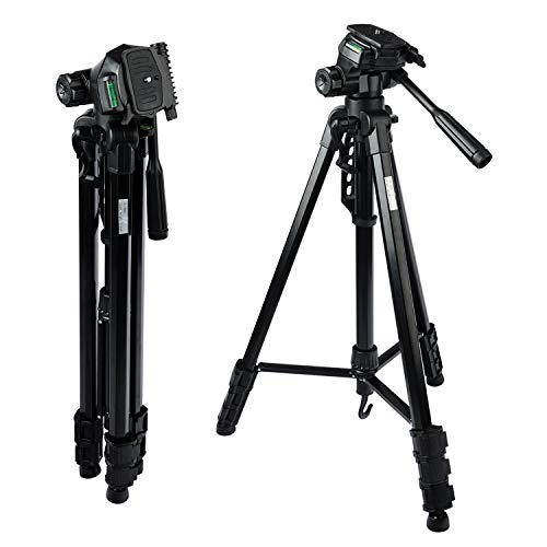 "MOUNTDOG Camera Tripod 70"" Professional DSLR Aluminum Alloy Camera Travel Tripod Stand Light Weight Adjustable for Video Canon Nikon Sony Samsung Olympus Panasonic Pentax"