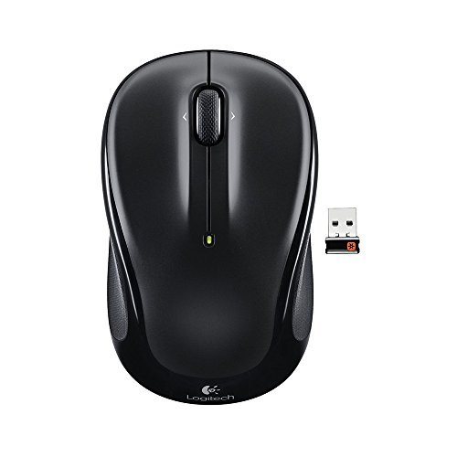 Black 3 Button Scroll (Logitech M325 3-Button Scroll Wheel 2.4 GHz USB Wireless Optical Mouse - Black (Certified Refurbished))