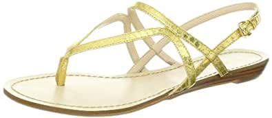 Nine West Women's Wiston Thong Sandal,Gold Synthetic,5 M US
