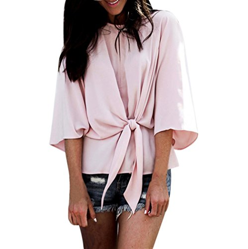 Clearance Casual Blouse Tops Shirts Pullovers Tie Loose AfterSo Womens Gift -