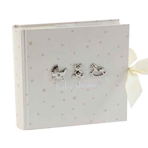 [해외]Bambino by Juliana Baby Shower Photo Album 50 Pages White / Bambino by Juliana Baby Shower Photo Album, 50 Pages, White
