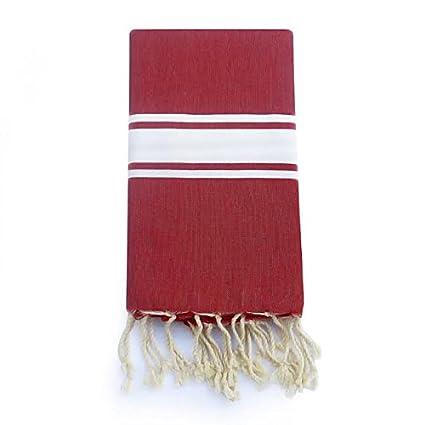 FOUTA TOALLA de alta calidad Toalla de playa Pareo toalla de baño hammam toalla Roja entrega