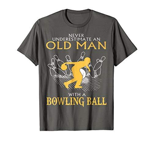 Old man Bowling Tshirt