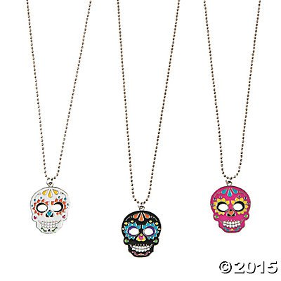 Fun Express - Day of The Dead Necklaces for Halloween - Jewelry - Necklaces - Necklaces - Novelty - Halloween - 12 ()