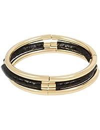 Women's Stretch Bracelet Set, Jet Snake, One Size