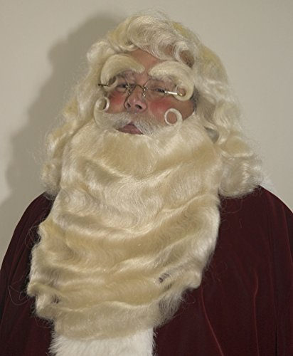Hand-made 100% Yak Hair Santa Beard Set w/Separate Mustache by Planetsanta