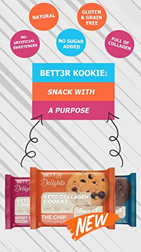 Healthy Keto Snacks Chocolate Chips Cookies by Bett3r Keto | Low Carb High Fat | Ketogenic, Primal, Paleo, Atkins | Almond Flour, Sugar Free, Dairy and Gluten Free, All natural Ingredients| 6 Cookies 5