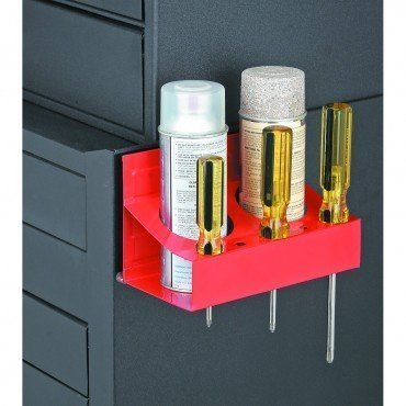 (Magnetic Holder for 2 Spray Cans, Bottles, Paint and 5 Screwdrivers)