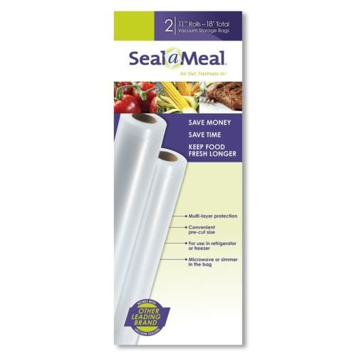 Seal-A-Meal 11-Inch by 9-Foot Rolls, 2pk, New FoodSaver