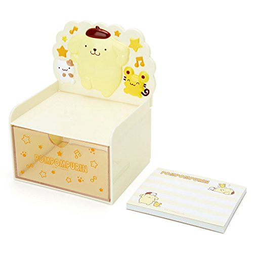 Pompompurin Desktop Chest With Memo Pad: Yellow