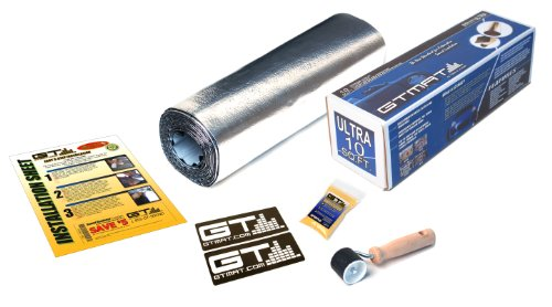 10' Sticker - GTMAT 10 sqft Automotive Audio Dampening 50mil PRO – Noise Reduction Installation Kit Includes: 10sqft (qty 1 – 1ft X 10ft roll), Instruction Sheet, Application Roller, Degreaser, GT MAT Decals