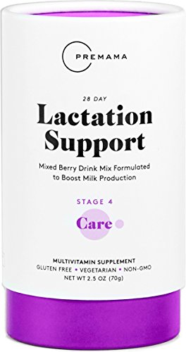 PREMAMA Lactation Drink Mix, Vegetarian Herbal Lactation Supplement, Supports Increased Milk Supply Formulated with Fenugreek, Fennel Seed, and Blessed Thistle, Mixed Berry Flavor 28 Packets