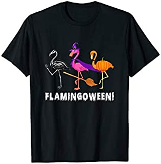 Happy Halloween Flamingoween  Funny Flamingo T-shirt | Size S - 5XL