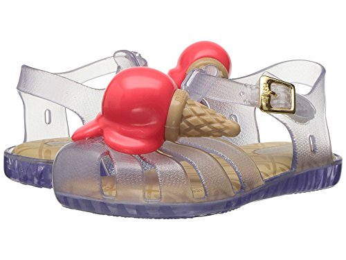 Mini Melissa Little Girls Mini Aranha X Clear Ice-Cream Sandals (8)