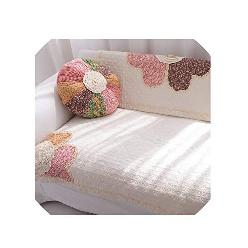 Lucky Girl-Slipcover Sofa Cover Rustic Sofa Cushion Fabric Cotton Sofa Towel Wood Sofa Cushion Thickening Couch Cover Flower,7070Cm