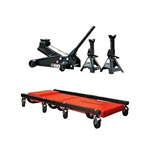 Craftsman 3 Ton Floor Jack, Jack Stands and Creeper Set by Craftsman