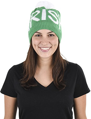 Patricks Day Knit Cap (Rhode Island Novelty Saint Patricks Day Irish Knit Pom Pom Hat)