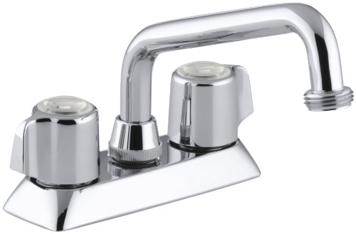 KOHLER K-15271-B-CP Coralais Laundry Sink Faucet, Polished Chrome by Kohler