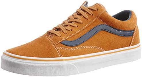 dddfec5fb6d00f Vans Men s Old Skool Suede and Leather Brown Sugar Canvas Sneakers ...