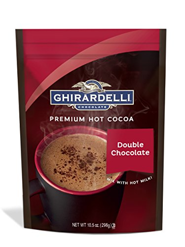 Ghirardelli Hot Chocolate Pouch, Double Chocolate, 10.5 Ounce - Ghirardelli Chocolate Dark Chocolate