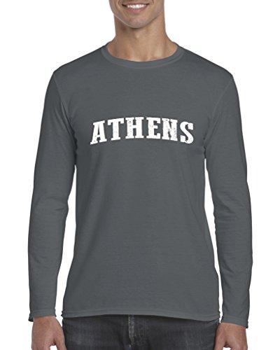 Athens GA Georgia Map Flag Atlanta Global Vity Home Of University Of Mens Long Sleeve - Mens Ga Clothing Athens