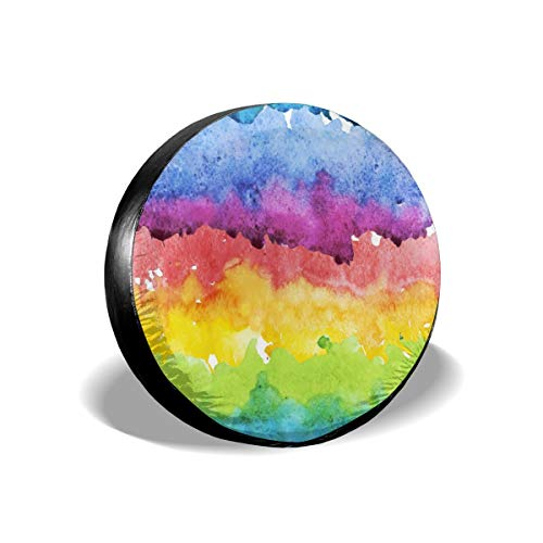 Colorful Abstract Painting Contrasting Spare Tire Cover 14