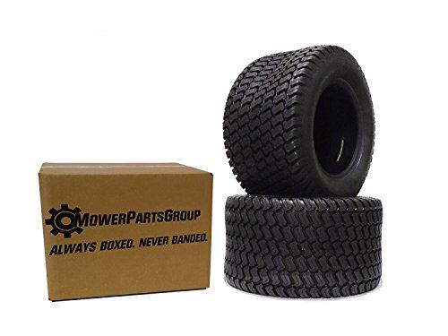(2) Wanda 20x10.00-8 Tires 4 Ply Lawn Mower Garden Tractor 20x10.00-8 Turf Master Tread - 4 Turf Tread 2 Ply