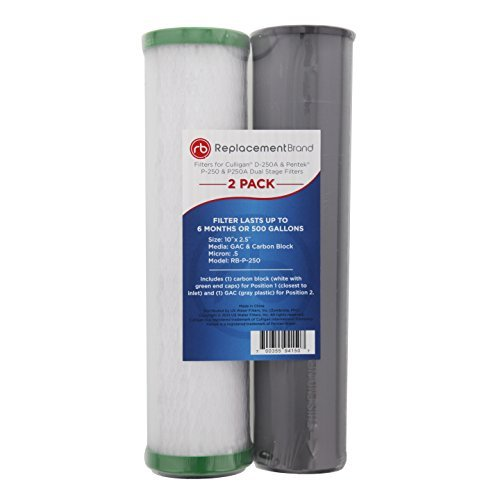 ReplacementBrand RB-P-250 Comparable Filter for the Culligan D-250A, Pentek P-250 and P-250A Dual Stage Filters, by ReplacementBrand