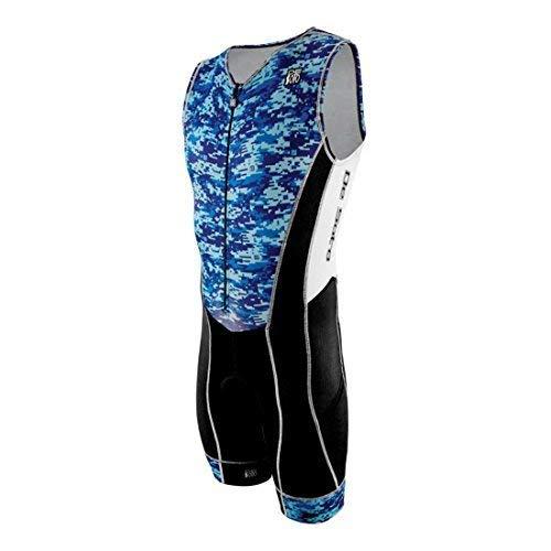 - DeSoto Men's Forza Tri Suit (Blue, Small)