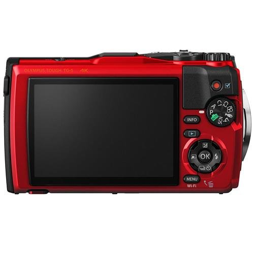 Olympus TG-5 Waterproof Camera with 3-Inch LCD, Red (V104190RU000)
