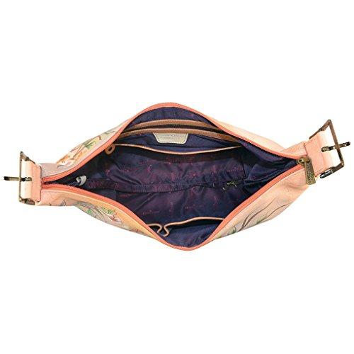 Foldable Garden Art Leather on Lrg Slim Japanese Tag Hobo Anuschka amp; Purse Handbag Holder 7w4zZE