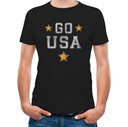 TeeStars - Go USA! World Women's Soccer Fan Cup 2015 Championship T-Shirt Medium Black
