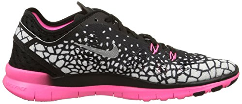 Nike Wmns Nke Free 5.0 Tr Fit 5 Prt -  para hombre Black/Mtllc Slvr-Pnk Pw-White