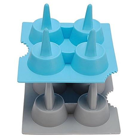 Amazon.com: Silicone Shark Fin Ice Tray Cube Freeze Maker Chocolate Mould Mold // Tiburón de silicona bandeja de hielo de la aleta del molde del molde del ...