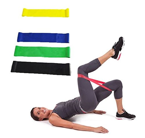 Banditz Resistance Loop Bands set of 4 plus 1 band 6 foot long exercise rubber powerband for home workout stretching pilates yoga physical therapy training health fitness exercise bands Fiercesquared