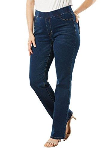 Women's Plus Size The No-Gap Slim Bootcut Jean - Dark Wash, 26 ()