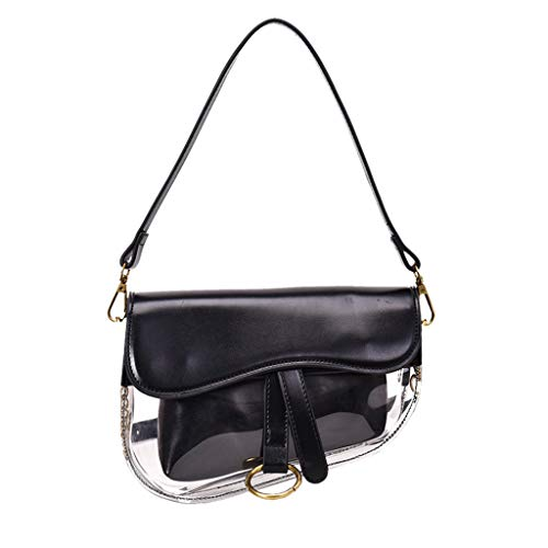 Women's Fashion Classy Shoulder Bag Messenger Bag Casual Handbag Waterprof Clear Tote Beach Crossbody Bag SIN+MON